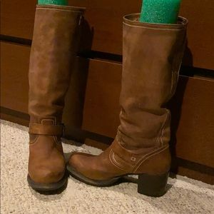Distressed Vera Slouch Frye boots